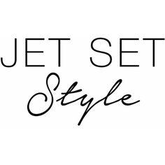 Jet Set Style With DJ Mia Moretti & The RealReal ❤ liked on Polyvore featuring text, words and font
