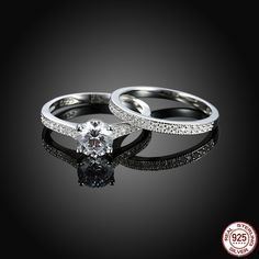 Authentic 100/% 925 Sterling Silver Sparkling Arcs of Love CZ Ring Size 5 6 7 8 9