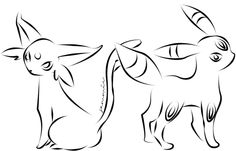 umbreon and espeon coloring pages - Google Search