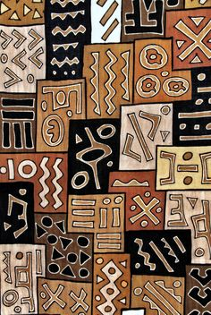 "This textile looks like Kuba cloth.  A previous pinner states it is ""Bogolan 