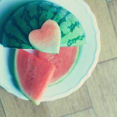 Food Photography Art For Kitchen: Watermelon Fine Art Heart Kitchen Art Summer fruit still life fruit wall decor Kitchen wall art fruit