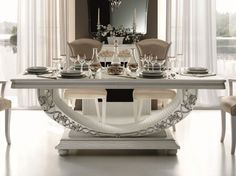 Classic style rectangular dining table Mirò Collection by Arredoclassic