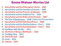 Smartpost Emma Watson List Of Movies Upcoming Latest Movies Shows Age Bio Emma Watson Movies List Emma Watson Movies Movies