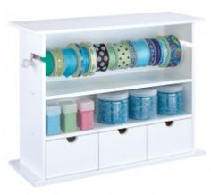 #papercraft #organization - Papercrafting Organization: Go-Organize Embellishment Organizer  ***Leave a comment at http://papercrafterscorner.com/blog/papercrafting-organization-ribbon-twine-washi-tape-and-floss-options-galore/  and YOU could WIN a Revolving Organizer from Go-Organize.com!***