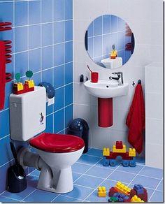 Baños modernos llenos de color especial para niños ~ Decoracion de salones
