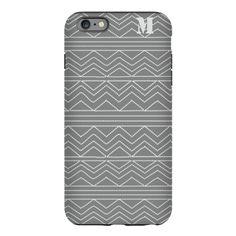 Chic Grey Pattern iPhone Plus 6 Tough Case