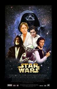 Star Wars Movie Poster x 17 Inches - x Style AA -(Mark Hamill)(Carrie Fisher)(Harrison Ford)(Alec Guinness)(Peter Cushing)(Kenny Baker) Classic Movie Posters, Classic Movies, Iconic Movies, Old Movies, Great Movies, Star Wars Episodio Iv, Alec Guinness, Old Movie Stars, Episode Iv