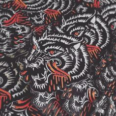 HUNGRY LIKE THE WOLF! Rad new hungry-wolf patches from killer apparel brand @staycoldapparel. Lots of traditional tattoo styles. They've got some nice burning church shirts and hoodies too, if you're into that kinda thing. #staycoldapparel #patchthread