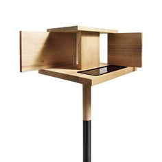 The designer Monique Engelund got the inspiration for her bird feeder form the famous Barcelona pavilion designed by Mies van der Rohe in 1929.