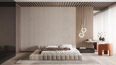 Modern Bedroom Design, Home Room Design, Spacious Living Room, Living Spaces, Minimal Bedroom, Master Room, Suites, Apartment Interior, Interior Design Inspiration