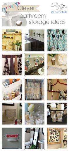 19 bathroom storage ideas #bathroom #organization