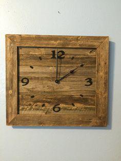 rustic reclaimed wooden wall clock