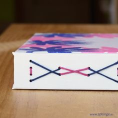 Bicolor longstitch binding