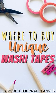 Expand your stationery/ bullet journal supplies collection with these super cool, unique washi tapes! #washitape #stationery #bulletjournalsupplies #bulletjournal #Bujo Bullet Journal Printables, Washi Tape, Stationery, Unique, Papercraft, Paper Mill, Craft Supplies