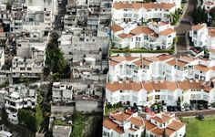Erase the Difference // Those images from Mexico City are not photoshopped! Photographer Oscar Ruíz shot those aerial pictures for a campaign conceived by Publicis Mexico showing the differences between rich and poor people.