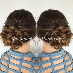 #updo #promhair #curlyupdo #curlyhair #sombre #sombrehair #formalhair #maryannecostahairstyling
