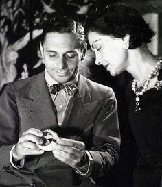 """Coco Chanel con """"Boy"""" Capel, il suo grande Amore,1920"""