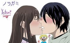 Yatori fanart by Yatori, Noragami, My Works, Fanart, Kiss, Anime, A Kiss, Fan Art, Kiss Me