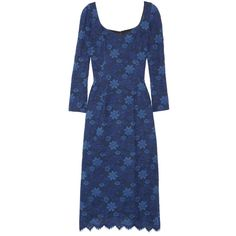 L'Wren Scott Stretch-lace dress ($1,950) ❤ liked on Polyvore