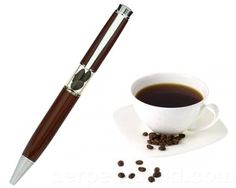 Having trouble staying awake in class or at work?   Wake up and smell our Coffee Bean Scented Pen!   Just the scent of the caffeinated beans should give you enough of a jolt to get your work done!   It's the perfect writing accessory to pair with your morning brew and will look great at any coffee shop that you frequent!