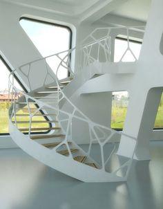 ….escalier spectaculaire