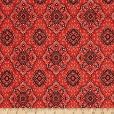 Rayon Jersey Knit Bandana Coral/Black