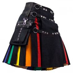 LGBTQ Hybrid Fashion Rainbow Kilt - Kilts For Men - Cheap Kilt This LGB Hybrid Fashion style kilt is specially made for active man who wants to look Stylish without spending too much money. This kilt has Stylish pockets, belt loops or fashionable buckles. Teen Fashion Outfits, Edgy Outfits, Grunge Outfits, Cute Fashion, Pretty Outfits, Cool Outfits, Men Fashion, Cool Dresses, Cheap Fashion