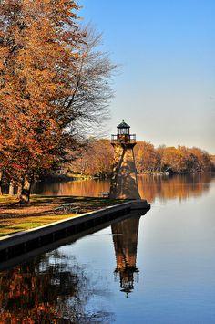 *Lighthouse in Autumn - Fabyan Forest Preserve, Geneva, Illinois