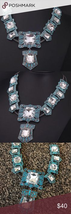 STUNNING CRYSTAL NECKLACE Covered in rhinestones and crystals.     SAME/NEXT DAY SHIPPING   SMOKE FREE   PET FRIENDLY  BOUTIQUE ITEMS MAY NOT HAVE TAGS  NO TRADES  NO MODELING  REALISTIC OFFERS WELCOME   ANY BUNDLES OF 10 OR MORE, SUBMIT OFFER FOR 50% OFF Jewelry Necklaces
