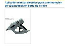 Aplicador manual electrico para la termofusion de cola hotmelt en barra de 18 mm