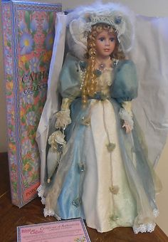 "SUSIE+Royal+Cathay+24""+Porcelain+Doll+Ltd.+Ed.+Victorian+Lady+Blue+Organdy+Dress"