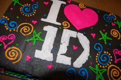 Childrens Birthday Cakes - Birthday cake for a One Direction fans glow party. Wish I had made the icing glow, but I havent attempted that yet.