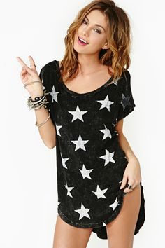 Star Power Tee- I think it's super cute but...I'd probably wear done jeans with it. ;) I'm not risqué lol.