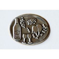 Eticheta metalica ovala de petrecere Personalized Items, Metal