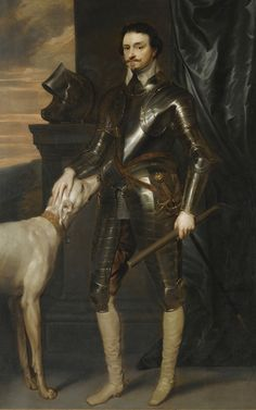 van Dyck - PORTRAIT OF THOMAS WENTWORTH, 1ST EARL OF STRAFFORD (1593-1641)  copy of the full length portrait of Wentworth, painted circa 1635-6, which originally hung at Wentworth Woodhouse (Private Collection).