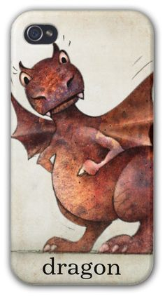 Put a dragon on your iPhone! By Paul Stickland for StrangeStore #strangestore #dragons