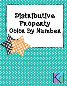 Distributive Property Color By Number from Coats Math Closet on TeachersNotebook.com (5 pages)