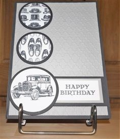 Send birthday greetings to your favorite guy with Stampin' Up! Guys Greetings…