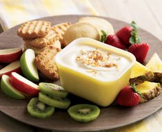 Looking for a new recipe to try at your next cookout? Try Daisy's festive Pina Colada Fruit Dip
