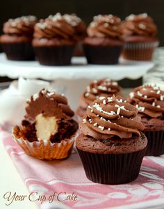 Chocolate Mascarpone-Filled Cupcakes