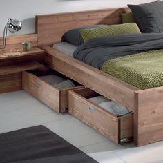 Tiroir lit HELSINKI Black Bedroom Design, Bedroom Bed Design, Bedroom Furniture Design, Small Room Bedroom, Home Room Design, Bed Furniture, Home Decor Furniture, Home Decor Bedroom, Wood Bed Design