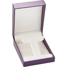 Plum Designer Collection T-Earring/Pendant Box...(ST61-0751:100001:T).! Price: $9.99 #pendantbox #jewelrybox