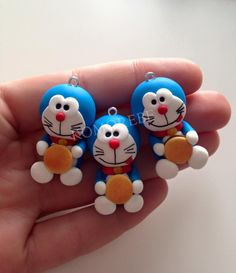 Doraemon, Jumping Clay, Fun Crafts, Polymer Clay, Stress, Cake, Salt Dough, Crafts For Kids, Cold Porcelain