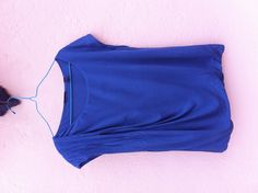Esprit denim blue viscose cap-sleeved top, UK S, fits 10-12, loose design. Lined throughout, fllattering with flares, gently used. P £5 UK EU, PM FrugalFashionista