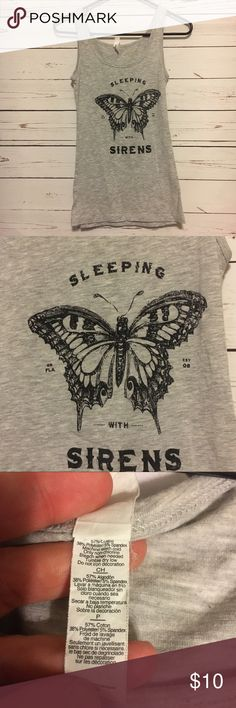 Sleeping with sirens band tee shirt tank Sleeping with sirens band tee tank top. Good condition. 14 arm to arm and 24 shoulder to hem. From hot topic. hot topic  Tops Tank Tops