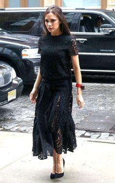 Victoria Beckham Little Black Dress - Victoria Beckham Looks - StyleBistro