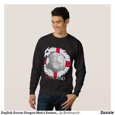 English Soccer Dragon Men's Sweatshirt - Outdoor Activity Long-Sleeve Sweatshirts By Talented Fashion & Graphic Designers - #sweatshirts #hoodies #mensfashion #apparel #shopping #bargain #sale #outfit #stylish #cool #graphicdesign #trendy #fashion #design #fashiondesign #designer #fashiondesigner #style