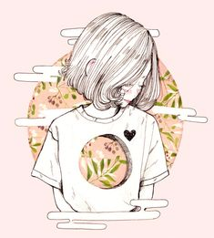 Anime - Follow 'LadyLuckPosts' For More :D its kinda cool how she has the image on her shirt - good artist