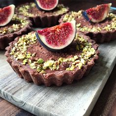 Chocolate and Fig Tart With Crushed Pistachios & Almond Crust | Lucy & Lentils