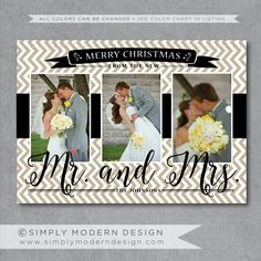 newlywed christmas card just married have yourself a married